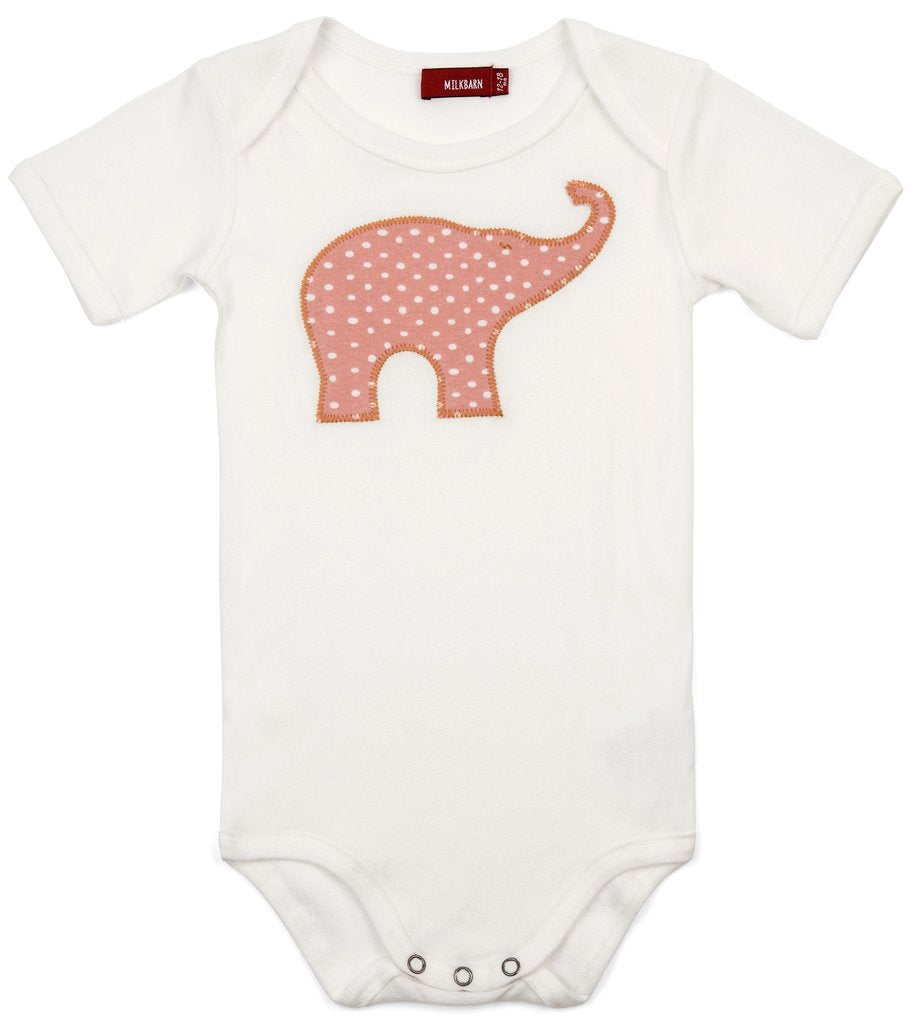 Milkbarn Onesie Rose Elephant 3-6M-Milkbarn-The Bugs Ear
