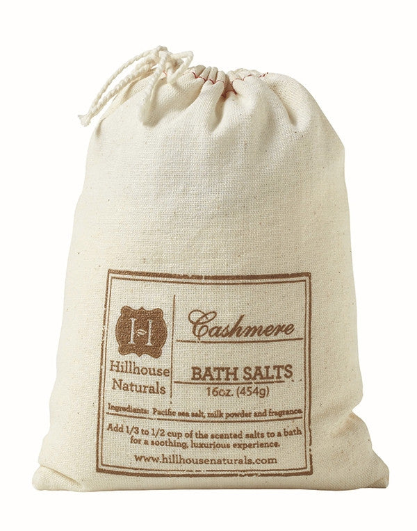 Cashmere Bath Salt in a Bag 16 oz-Hillhouse Naturals-The Bugs Ear