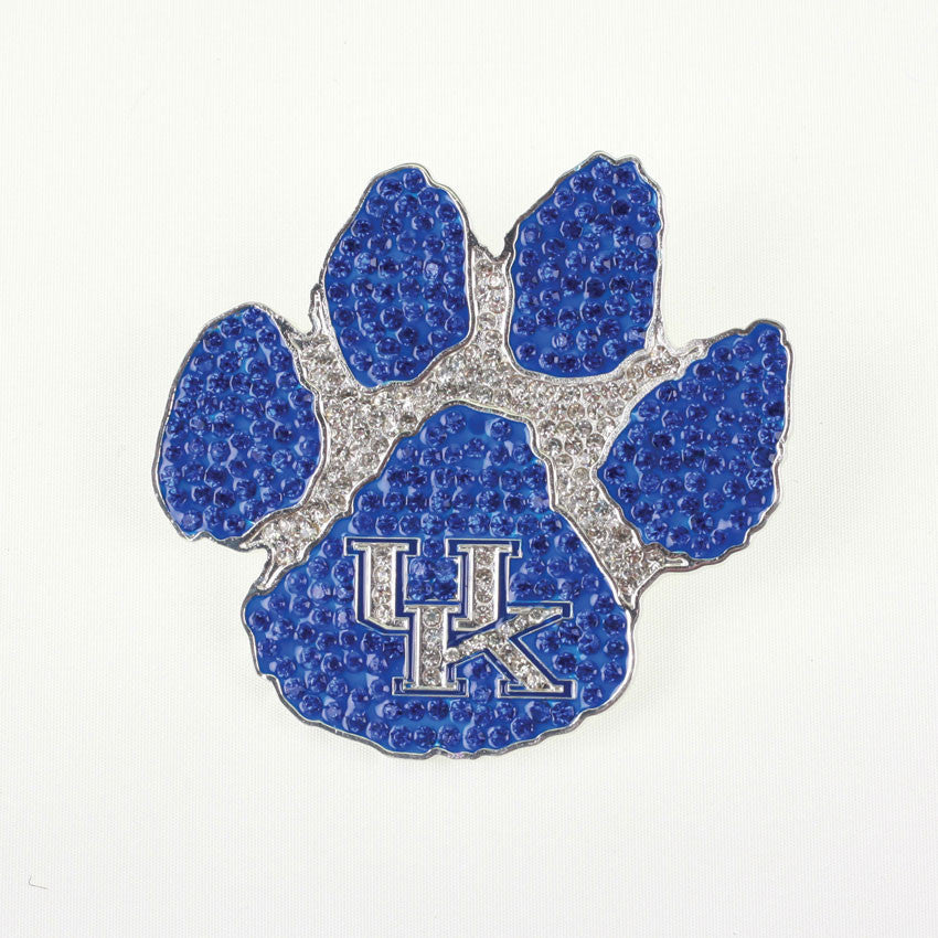 Kentucky Wildcats Paw Crystal Logo Pin-Seasons Jewelry-The Bugs Ear