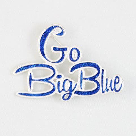 "Kentucky ""Go Big Blue"" Slogan Pin-Seasons Jewelry-The Bugs Ear"