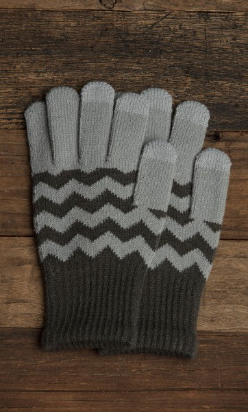 Lemon Boho Zig Zag Glove Graphite-Lemon-The Bugs Ear