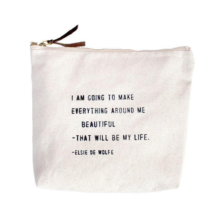 I Am Going To Make Everything Around Me Beautiful Canvas Bag-Sugarboo Designs-The Bugs Ear
