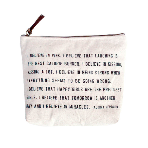 I Believe in Pink Canvas Bag-Sugarboo Designs-The Bugs Ear