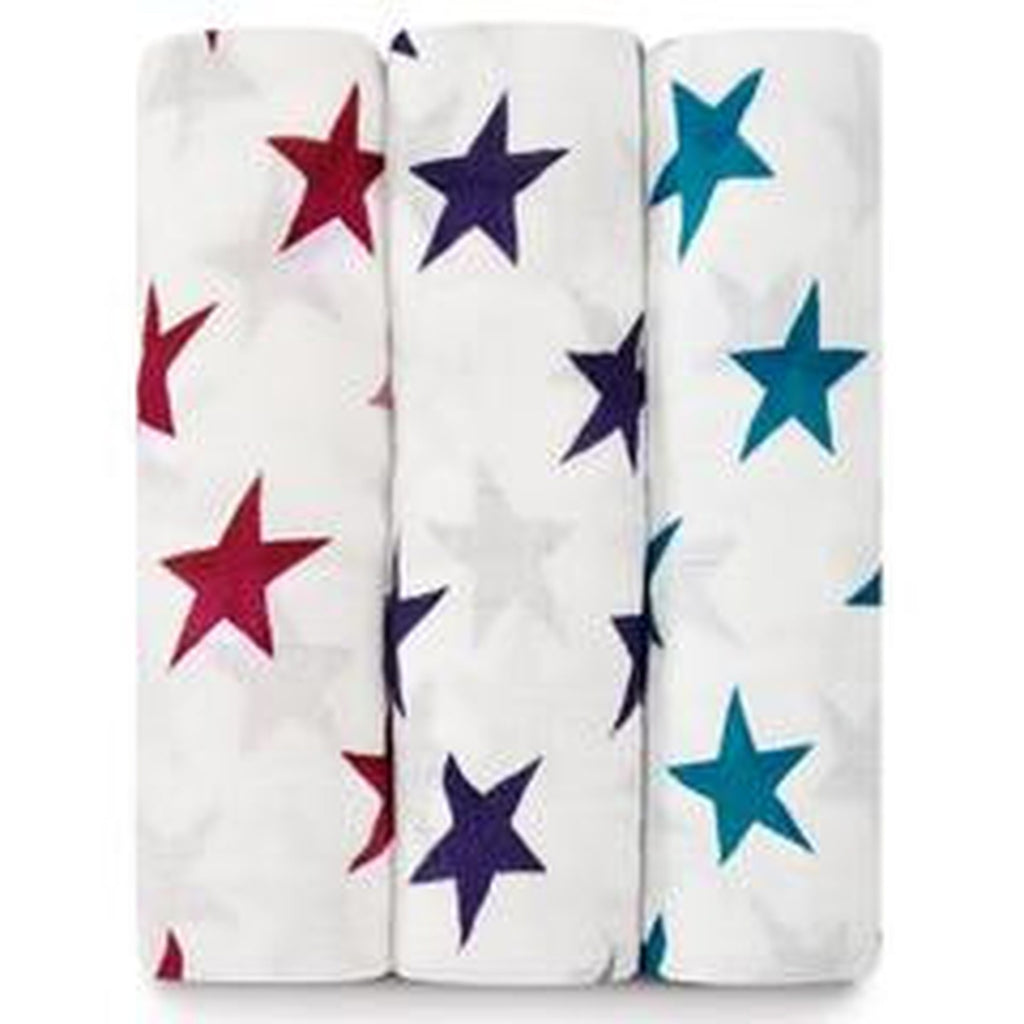 Aden and Anais Swaddle 3 pack Set Celebration Stars-Aden + Anias-The Bugs Ear