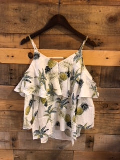 Lola Cold Shoulder Pineapple Top-THML-The Bugs Ear
