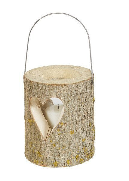 Black Forest Log Lantern with Heart-Europe2You-The Bugs Ear