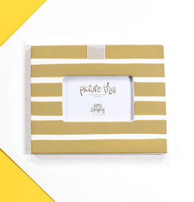 Happy Everything Mini Frame Neutral Stripe-Coton Colors-The Bugs Ear