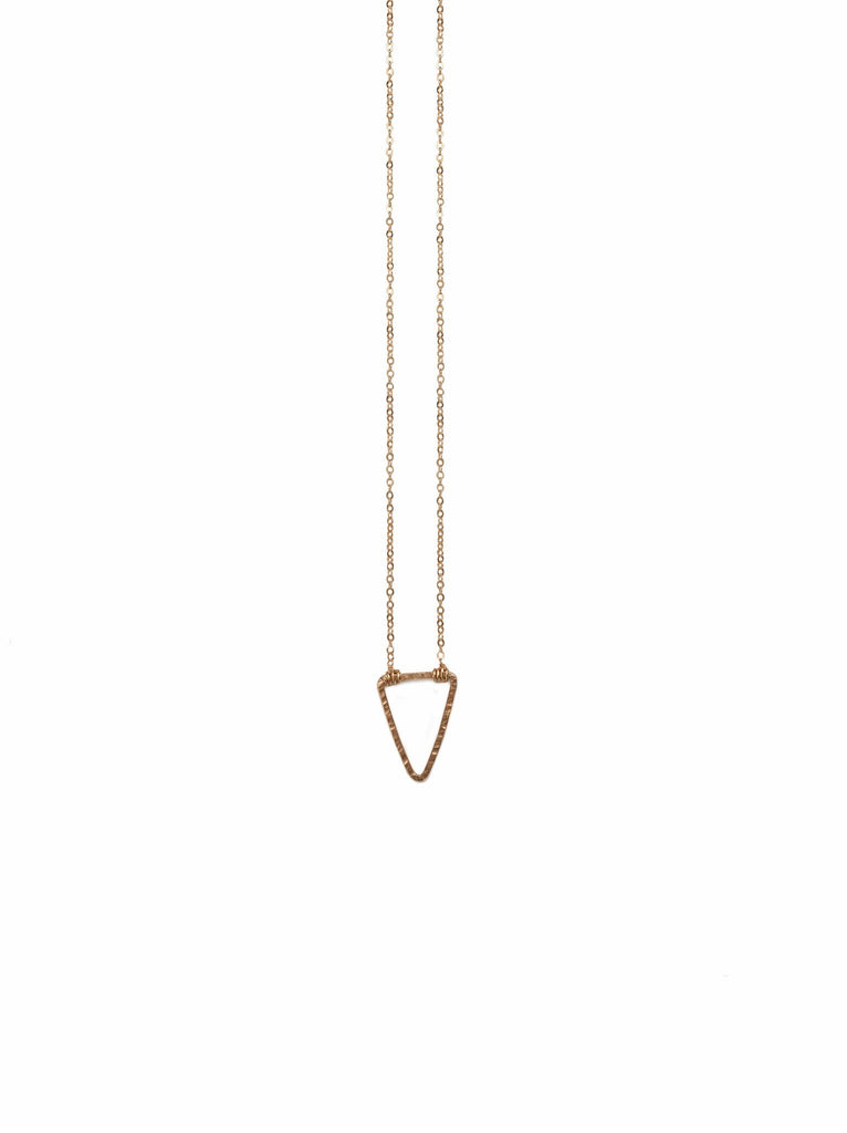 Floating Shape Necklace Gold Triangle-Fashionable-The Bugs Ear