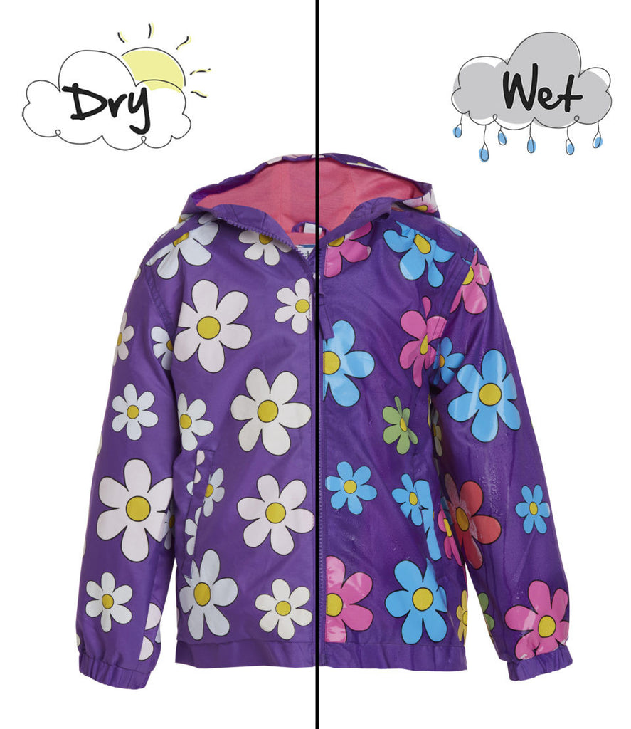 Holly and Beau Color Changing Raincoat Purple Flower-Holly and Beau-The Bugs Ear