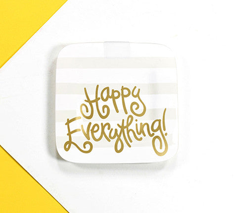 Happy Everything Mini Platter White Stripe-Coton Colors-The Bugs Ear