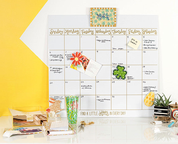 Happy Everything Magnetic Dry Erase Wall Calendar-Coton Colors-The Bugs Ear