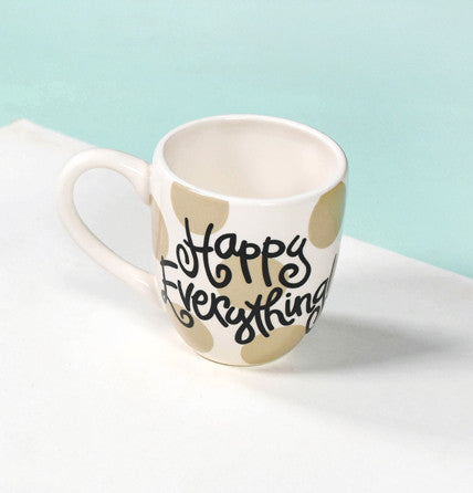 Happy Everything Mug Neutral Dot-Coton Colors-The Bugs Ear