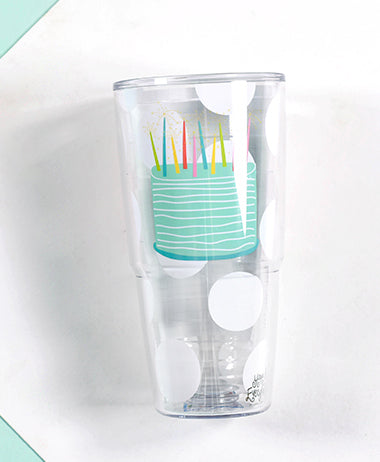 Happy Everything Happy Birthday 24 oz Tumbler-Coton Colors-The Bugs Ear