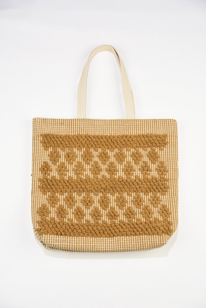 INK ALLOY Handloom Simple Diamond Tote Mustard-INK + ALLOY-The Bugs Ear