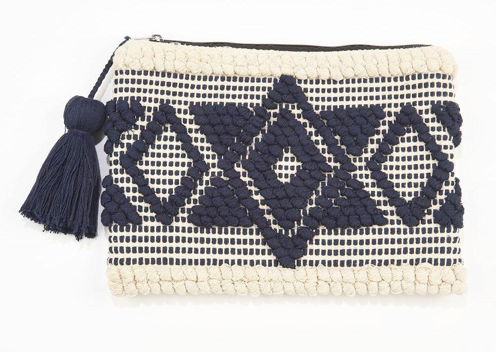INK ALLOY Handloom Clutch Navy-INK + ALLOY-The Bugs Ear