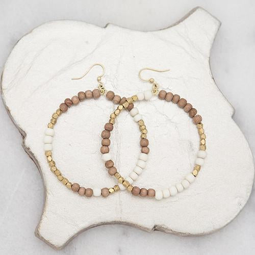 Stone Stick Hopscotch Earrings in Rose White Combo-Stone Stick-The Bugs Ear
