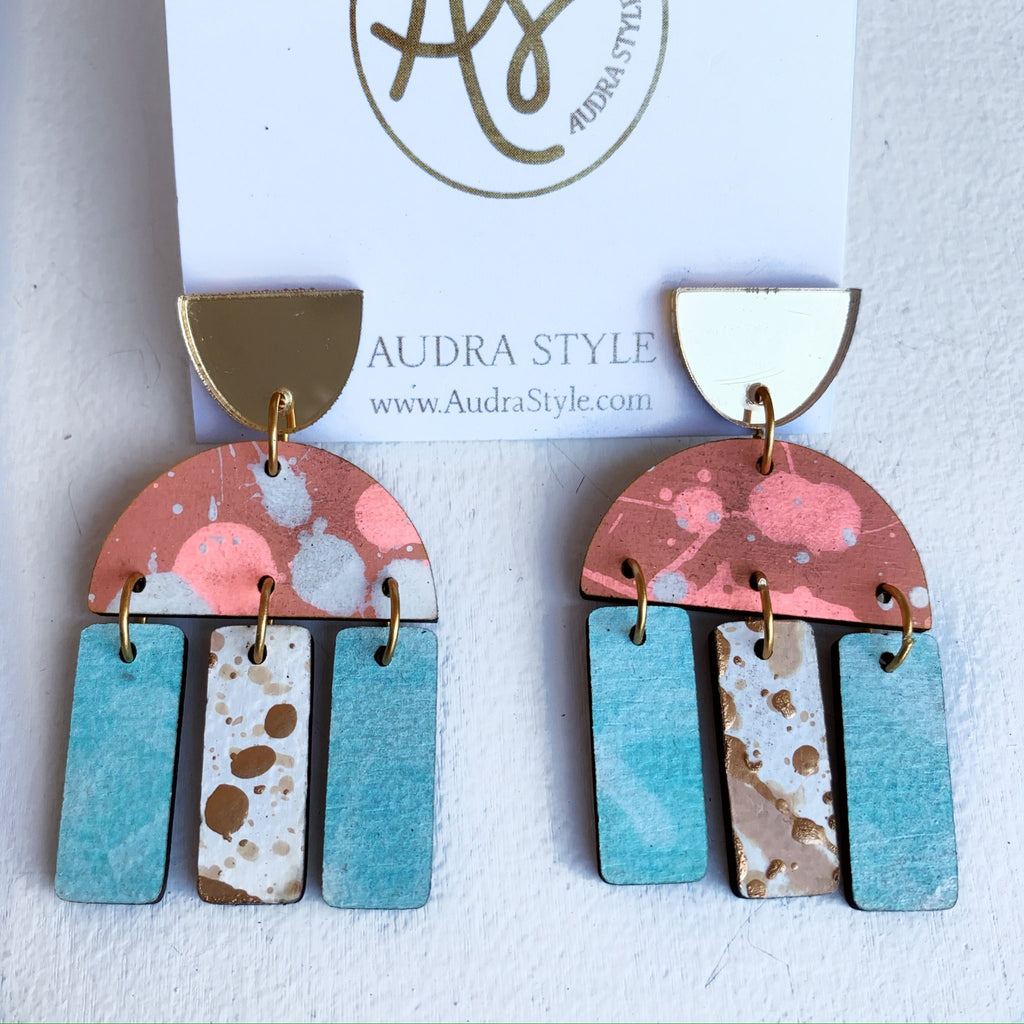 Audra Style Agatha - Gold Coral Mint-Audra Style-The Bugs Ear
