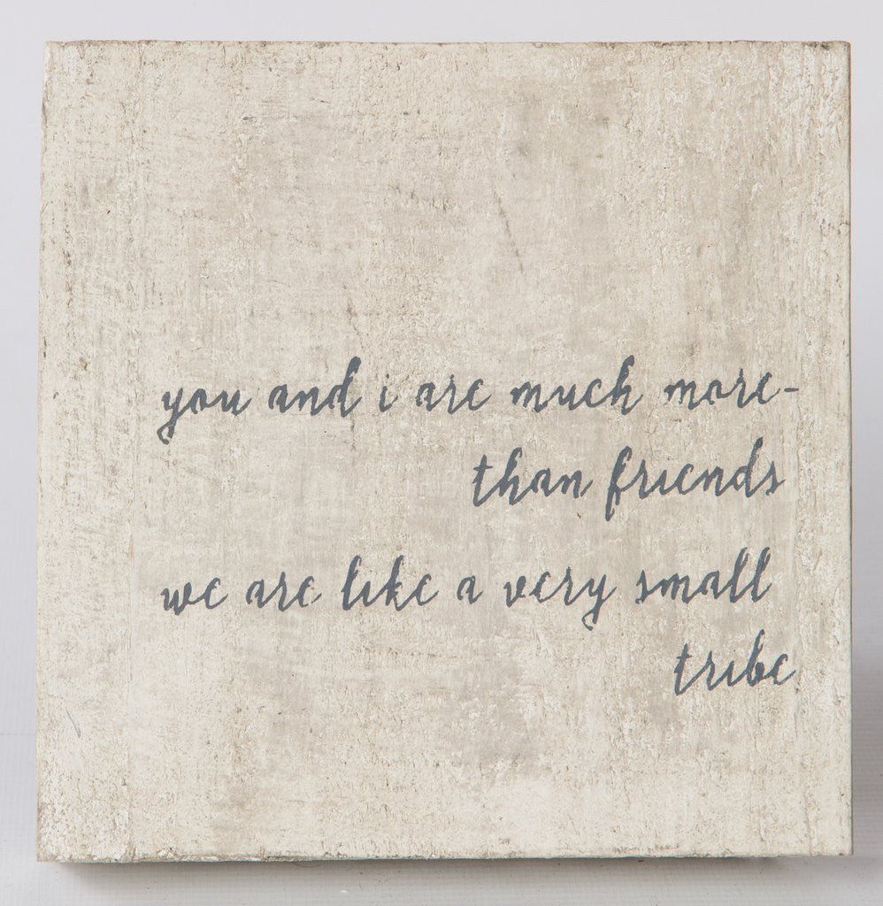 Much More Than Friends Wood Block-Face to Face Designs-The Bugs Ear