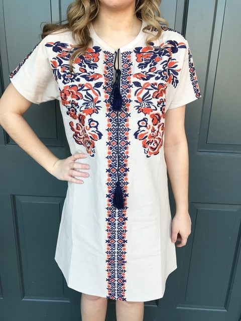 77639b017d32 Isabelle Short Sleeve Embroidered Dress – The Bugs Ear