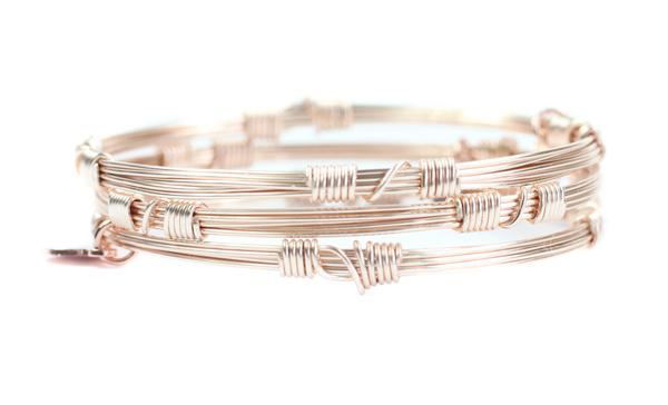Rose Gold Bangle Stackers Bourbon and Boweties-Bourbon & Boweties-The Bugs Ear