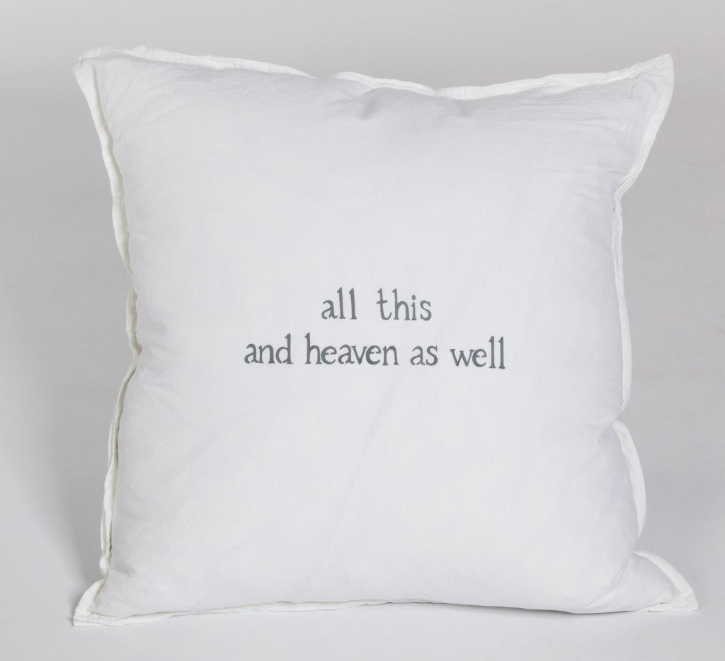 All This and Heaven As Well Large Pillow-Face to Face Designs-The Bugs Ear