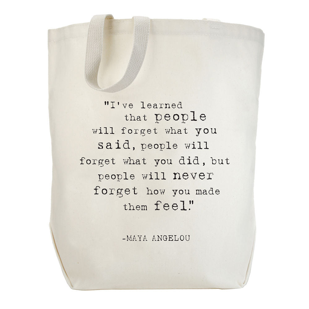 Dogeared Maya Angelou Collection Tote Bag I've Learned-Dogeared-The Bugs Ear