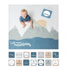 Baby's First Year Blanket and Card Set I Will Move Mountains-Lulujo Baby-The Bugs Ear