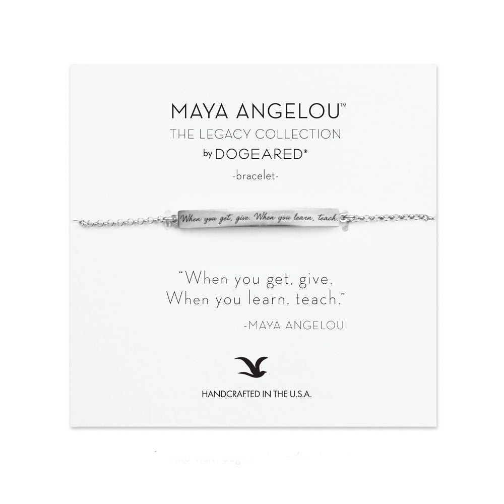 Dogeared Maya Angelou Collection When You Get, Give Bracelet-Dogeared-The Bugs Ear