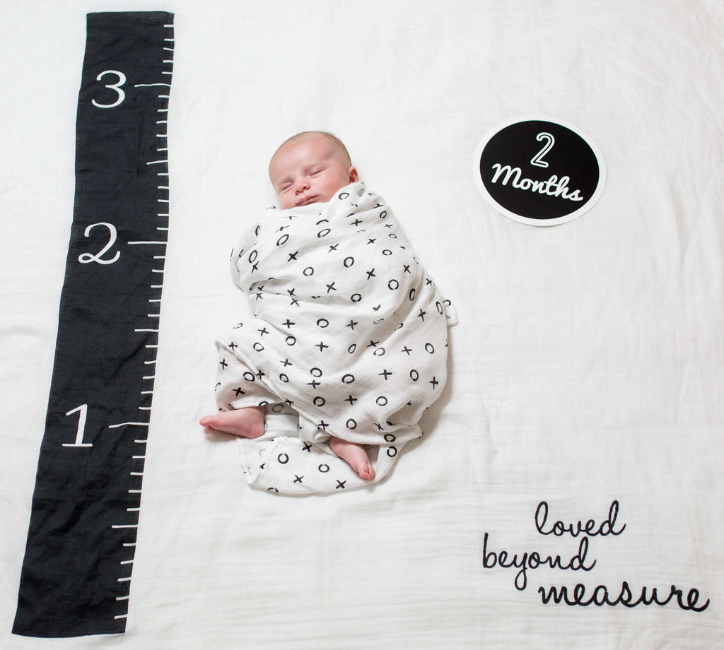 Baby's First Year Blanket and Card Set Loved Beyond Measure-Lulujo Baby-The Bugs Ear