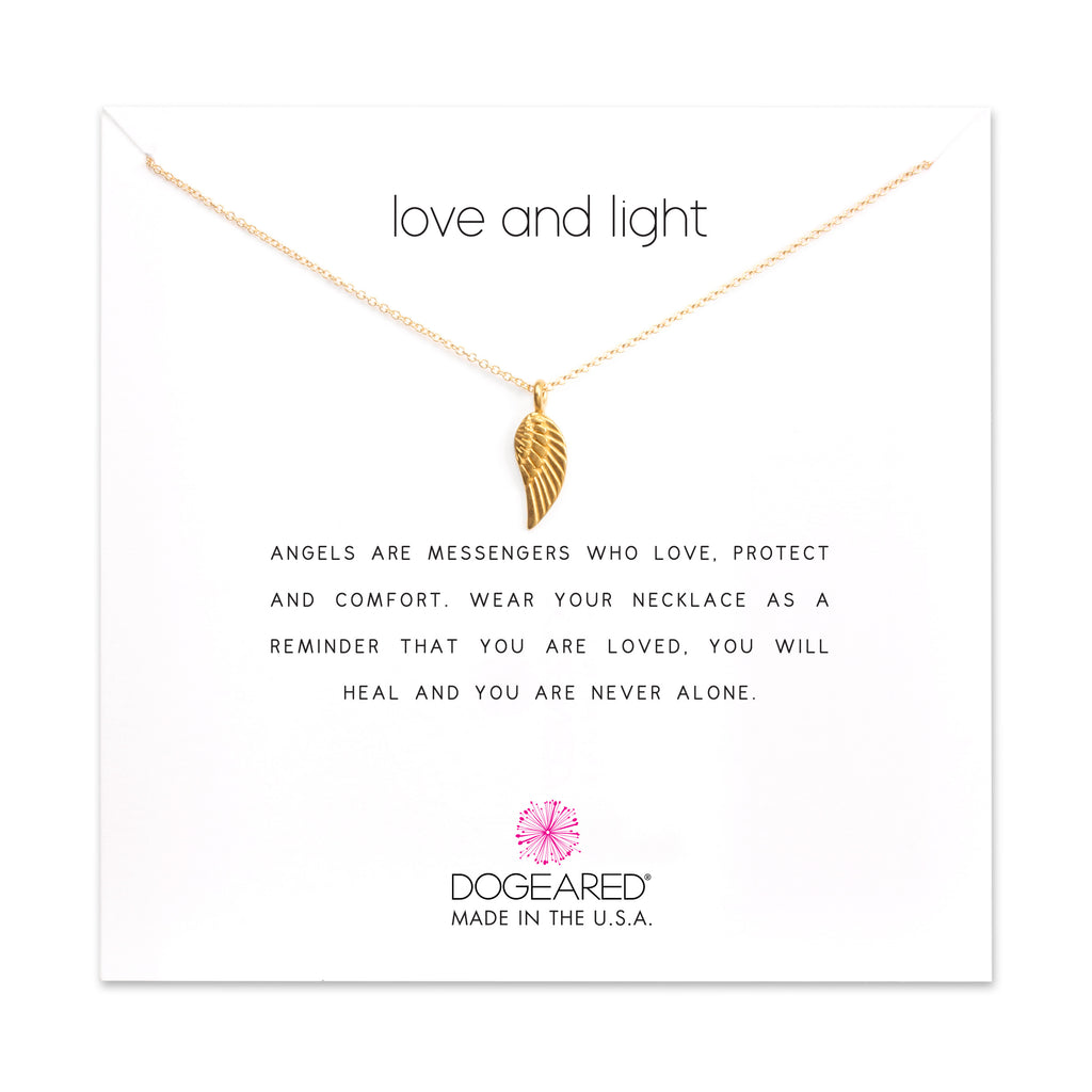 Dogeared Love and Light Angel Wing Gold-Dogeared-The Bugs Ear