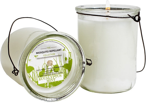 Eucalyptus Mint Mosquito Repellent Hanging Candle 7 oz-Hillhouse Naturals-The Bugs Ear
