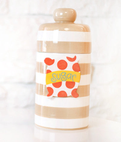 Happy Everything Mini Canister Neutral Stripe-Coton Colors-The Bugs Ear