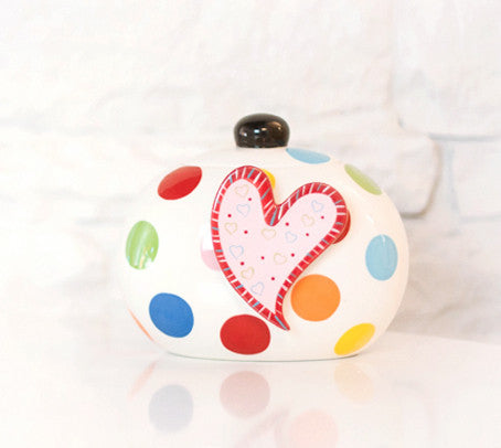 Happy Everything Mini Cookie Jar Multi Dot-Coton Colors-The Bugs Ear
