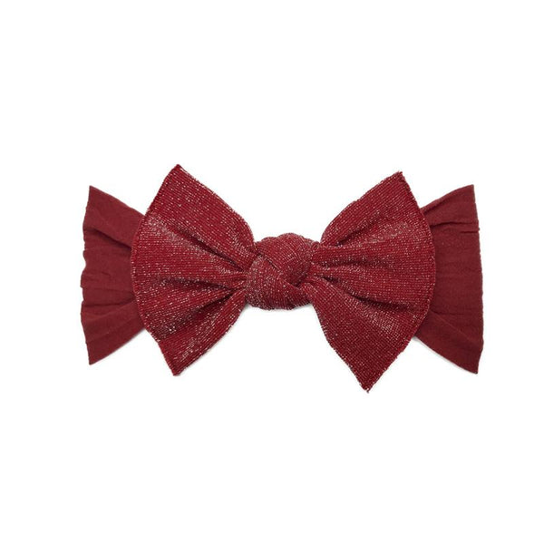 Baby Bling Metallic Knot Headband Cherry-Baby Bling-The Bugs Ear