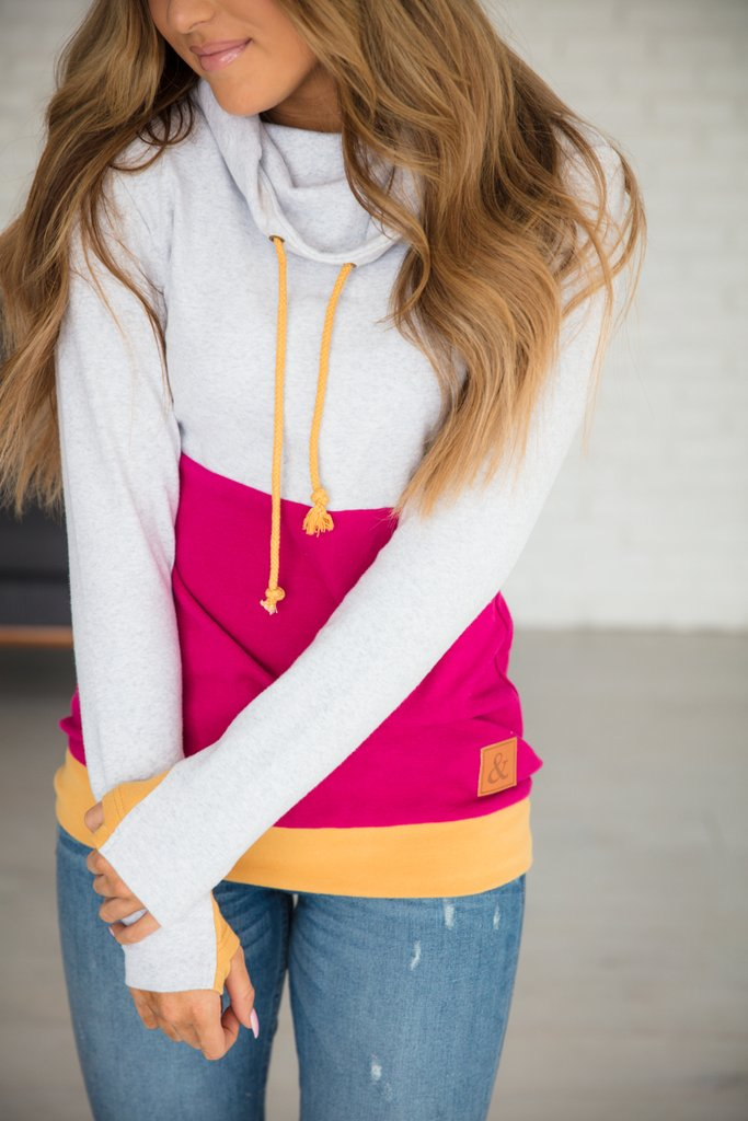 Ampersand Ave Cowl Neck Sweatshirt Daisy-Ampersand Ave-The Bugs Ear