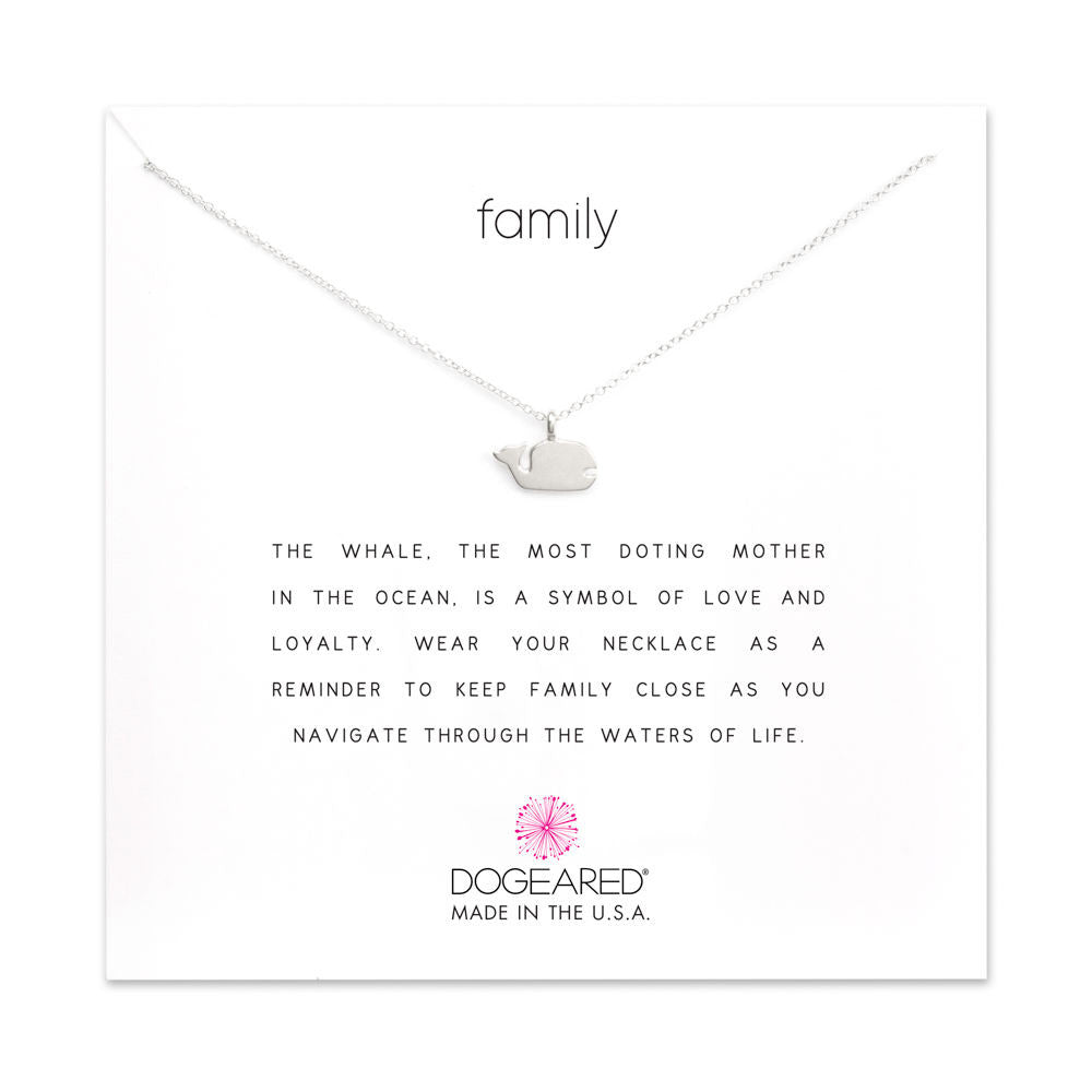 Dogeared Family Whale Necklace in Silver-Dogeared-The Bugs Ear
