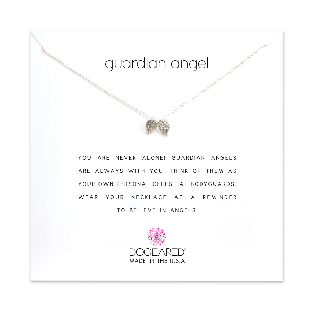 Dogeared Guardian Angel Necklace in Silver-Dogeared-The Bugs Ear