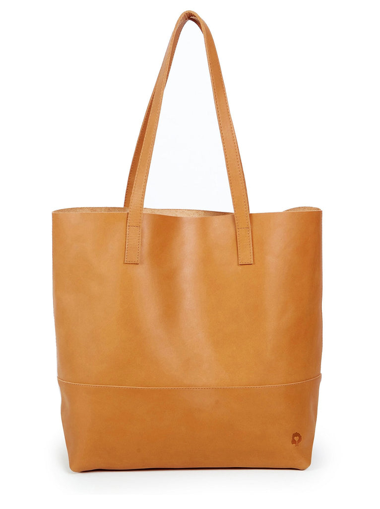 Mamuye Leather Tote Bag in Cognac-Fashionable-The Bugs Ear