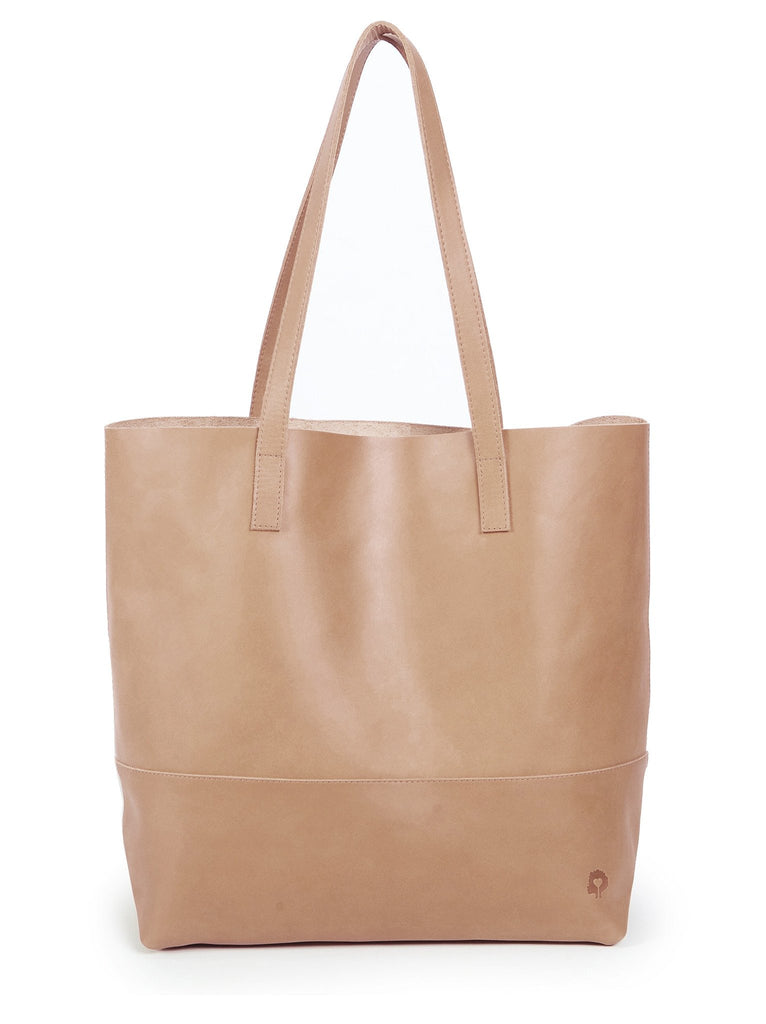 Mamuye Leather Tote Bag in Dusty Rose-Fashionable-The Bugs Ear