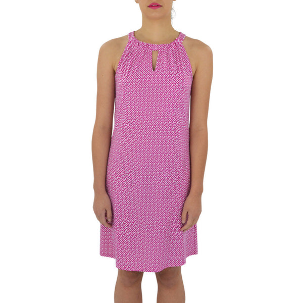 Jude Connally Lisa Dress in JC Key Fuchsia-Jude Connally-The Bugs Ear