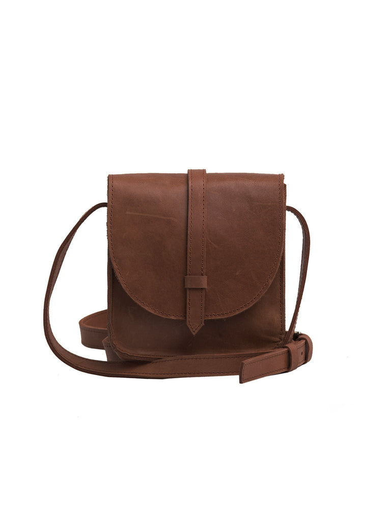 Mini Tirhas Saddlebag in Chocolate-Fashionable-The Bugs Ear