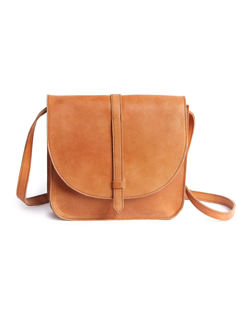 Tirhas Saddle Bag in Cognac-Fashionable-The Bugs Ear