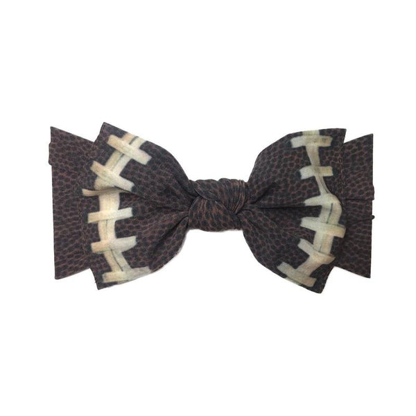 Baby Bling Printed Knot Headband Football-Baby Bling-The Bugs Ear