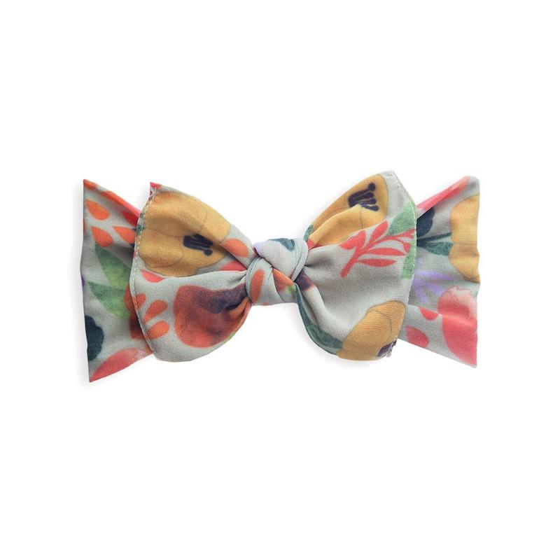 Baby Bling Printed Knot Headband Fall Floral-Baby Bling-The Bugs Ear