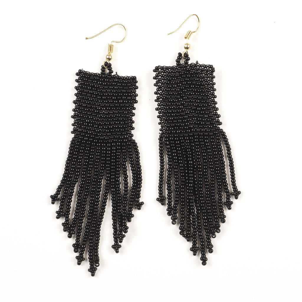 "INK ALLOY Black Seed Bead Solid 3.75""-INK + ALLOY-The Bugs Ear"