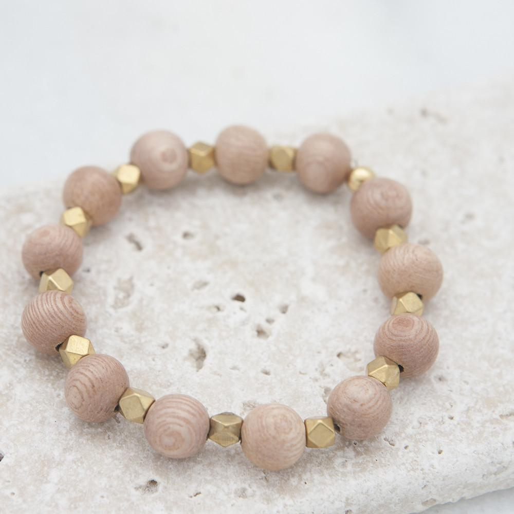 Stone Stick Essentials Stretch Bracelet in Rose-Stone Stick-The Bugs Ear