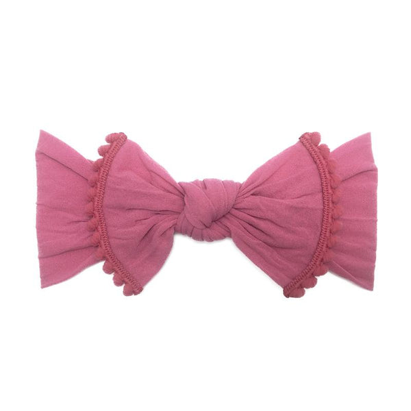 Baby Bling Trimmed Knot Headband Hot Pink-Baby Bling-The Bugs Ear