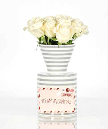 Happy Everything Mini Vase Stone Stripe-Coton Colors-The Bugs Ear