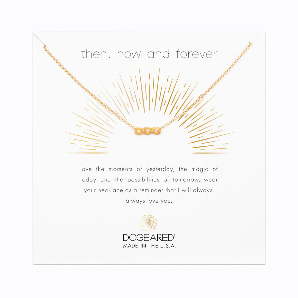 Dogeared Then Now and Forever in Gold Bar-Dogeared-The Bugs Ear