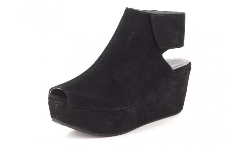 Chocolat Blu White Wedge in Black Suede-Chocolat Blu-The Bugs Ear